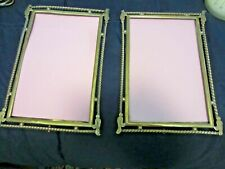 PAIR OF ANTIQUE BRASS DECO STYLE FRAMES C. 1920