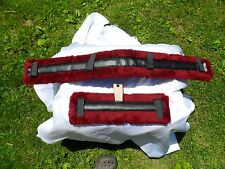 Miniature Horse Fleece Harness Saddle & Breast Collar Pads Amish Made BURGUNDY