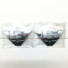 Pair Of V6 SIDE FENDER CHROME EMBLEM LOGO Replaces Fit FORD ESCAPE Free Shipping