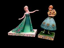 Disney Traditions Frozen Fever 2-Piece Set! Princess Anna and Queen Elsa! New!