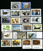 US Stamps XF Lot of 21 state + private Duck stamps w/ over $200 face value OG NH