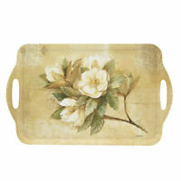 Pimpernel Sugar Magnolia Large Melamine Handled Serving Tray 19.25 x 11.5