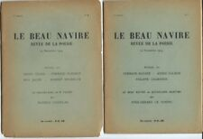 TÊTE DE SÉRIE EO 1934 -1935 REVUE LE BEAU NAVIRE 1 À 6 + 18 DÉDICACES OU NOTES