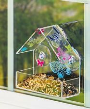 New listing Birdfeeder Evergreen Garden Butterfly Rabble Outdoor-Safe Acrylic Suction-Cup