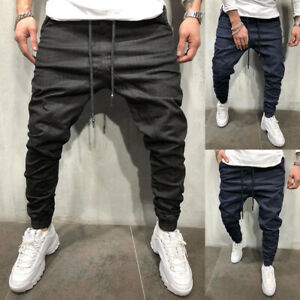 Casual Joggers Denim Pants Designer's Cargo Loose Slim Fit Stretch Jeans Workout