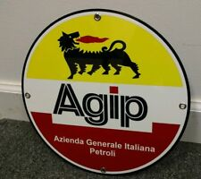 Agip Gasoline gas motor oil sign . Free shipping on any 8 signs