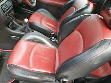 PEUGEOT 206 cc RED BLACK LEATHER INTERIOR SEATS DOOR CARDS