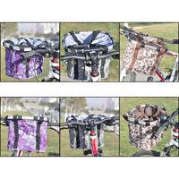Foldable Cycling Bike Front Basket Bicycle Handlebar Shopping Bag Detachable
