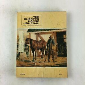 May 1981 The Quarter Horse Journal Magazine Annual Performance Issue BillTackett