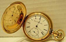 Antique 14k Gold Assay Elgin Railroad Pocket Watch circa 1880s-Working
