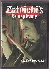 Zatoichi #25 Zatoichi's Conspiracy DVD Japanese w/Eng Subs Samurai w/ insert