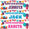 2 Personalised Birthday Banner Balloon-1st 5th 16th 18th 21st 30th 40th 50th