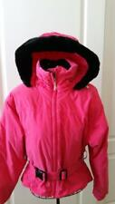 OBERMEYER LADIES SKI JACKET  *Bright Pink*  Size 4 with Rmoveable  Hood