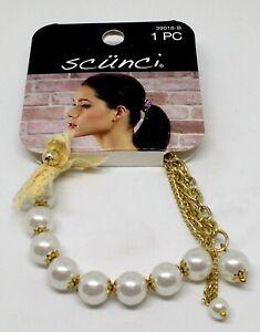 SCUNCI Hair Embellishment Fancy hair Elastic 1 Piece 39018-B DD New On Card