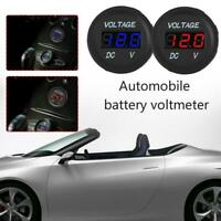 DC 12V-24V Car Motorcycle LED Panel Digital Voltage Tester Voltmeter F4W8