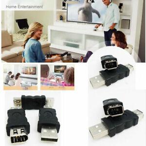Adaptateur Firewire IEEE 1394 6 Broches Femelle  à USB 2.0 Mâle - Neuf