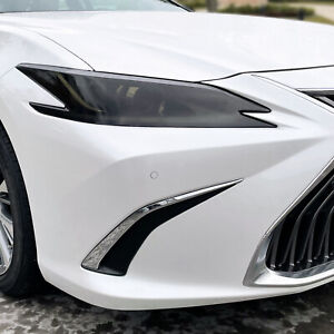 FOR 19-21 Lexus ES SMOKE Headlight PreCut Vinyl Tint Overlays