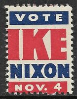 EISENHOWER and NIXON 1952 Presidential Campaign Stamp