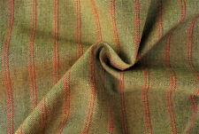 A3 BIEGE WITH  BURGUNDY  PIN STRIPE FINE WORSTED COTTON BLEND MADE FOR G.ARMANI