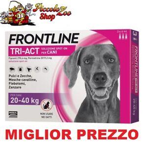 Frontline TRI-ACT 3 pipette per cani di 20-40 kg antiparassitario SCAD 2023 NEW
