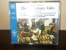 The Canterbury Tales by Geoffrey Chaucer 3 Compact Discs Volume 2 Poetry