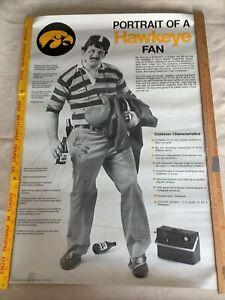 Vintage 'Portrait Of A Hawkeye Fan' Poster - Superfan  - Iowa  - NCAA Sports