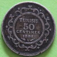 TUNISIE 50 CENTIMES 1891 A