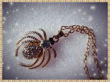 Rhinestone Spider Necklace,With Long Chain,Gift Idea,Fashion/Costume,Pretty