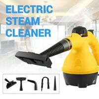 Electric Steam Cleaner Portable Handheld Steamer Household Cleaner Tool Yellow