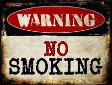 WARNING NO SMOKING Novelty Metal Decorative Parking Sign