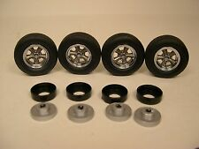 LANE AUTOMOTIVE PLASTIC AND RUBBER 1:18 SCALE TORQUE THRUST WHEEL & TIRE SET  #1