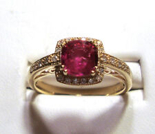 NEW Ruby and Diamond Gold Ring 1.05ct 14k Yellow Gold Size 7