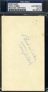 Tony Kubek Signed 1966 Gpc Psa/dna Autograph Authentic