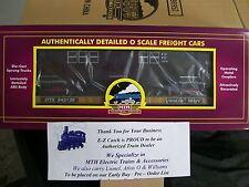 MTH Premier O Scale Flat Car w/R-17 Subway Car # 6666 & Trailer Train  # 943136