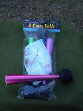 4 Nip Cone-Fetti Party Air Horn w/Confetti Noise Maker