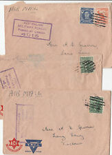 WW2 ACF & YWCA Australia 3 covers & stamps to Victoria from WA killer postmarks