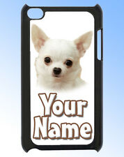 CHIHUAHUA  / PUPPY IPOD TOUCH 4 PERSONALISED CASE / REAR COVER -GIFT & NAMED TOO