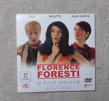 "DVD SPECTACLE  / FLORENCE FORESTI ""A TOUT ESSAYÉ"" DVD TOUPARGEL CARDSLEEVE NEUF"