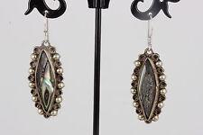 Sterling Silver Mexico Uf Seashell Earrings 925 8930