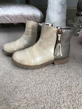 Girls Buckle My Shoe Glitter Gold Ankle Boots 12