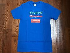 New Know Wave Blue Wavelength Tee T-Shirt Logo By Aaron Bondaroff Supreme Size M