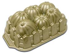 Nordicware PUMPKIN PATCH Harvest LOAF PAN *Gold-Toned 6 Cups BREAD CAKE