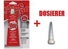 Shoe Goo Clear 109,4ml + DOSIERER Schuhkleber Skateboard Modellbau ShoeGoo 110ml