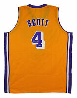 Lakers Byron Scott Authentic Signed Yellow Jersey BAS Witnessed #K03643