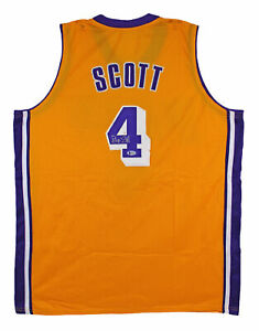 Byron Scott Authentic Signed Yellow Pro Style Jersey BAS Witnessed #K03643