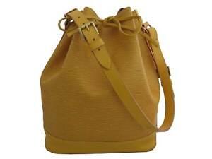 Auth Louis Vuitton Epi Noe Shoulder Bag Yellow/Goldtone - e47303a
