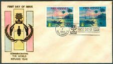 1960 Philippines COMMEMORATING THE WORLD REFUGEE YEAR First Day Cover - A