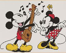 Counted Cross Stitch VINTAGE MICKEY & MINNIE - COMPLETE KIT #10-56 KIT