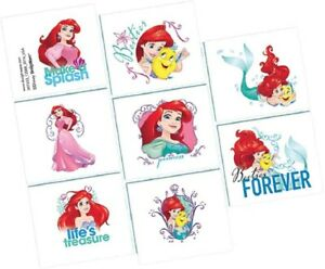 Disney Princess Ariel Little Mermaid Temporary Tattoos Dream Big Birthday Loot