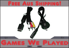 Playstation 2 PS2 AV Cables and Power Cord Lead *Brand New Aftermarket AU Plug